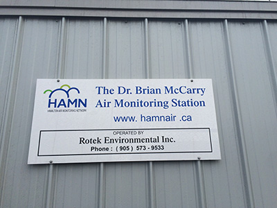 Dr Brian McCarry Air Monitoring Station
