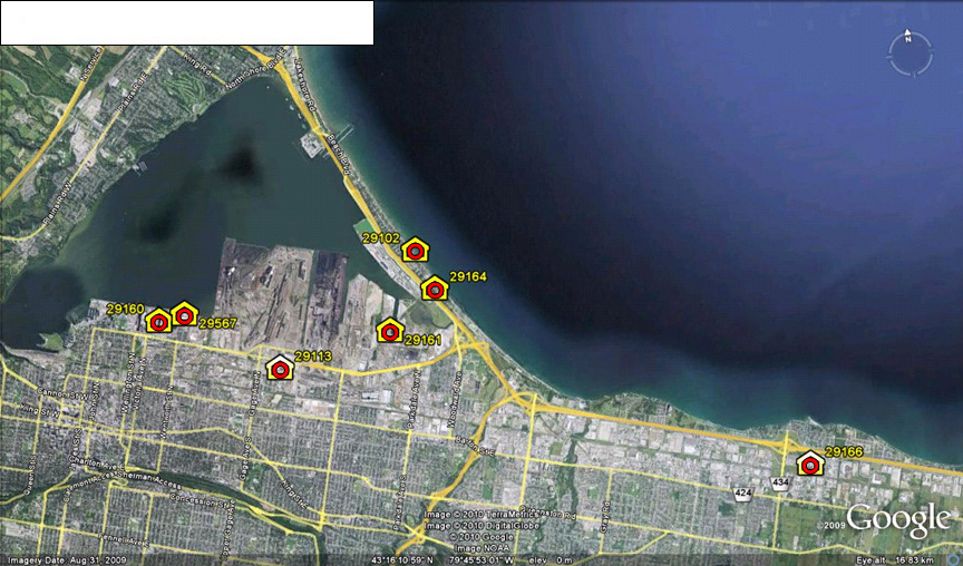 Total Suspended Particulates (TSPs) Air Monitoring Stations in Hamilton