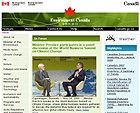 Thumbnail of the Environnement Canada website